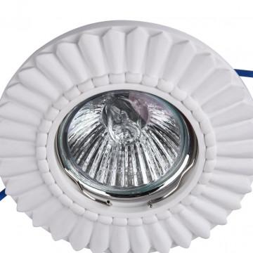 Встраиваемый светильник Maytoni Gyps Classic DL281-1-01-W, 1xGU10x35W, белый, под покраску, гипс - миниатюра 7