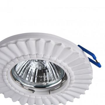 Встраиваемый светильник Maytoni Gyps Classic DL281-1-01-W, 1xGU10x35W, белый, под покраску, гипс - миниатюра 8