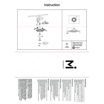 Схема с размерами Maytoni DL281-1-01-W