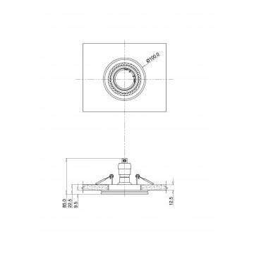 Схема с размерами Maytoni DL283-1-01-W