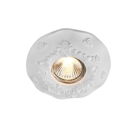 Встраиваемый светильник Maytoni Gyps Classic DL284-1-01-W, 1xGU10x35W, белый, под покраску, гипс - миниатюра 1