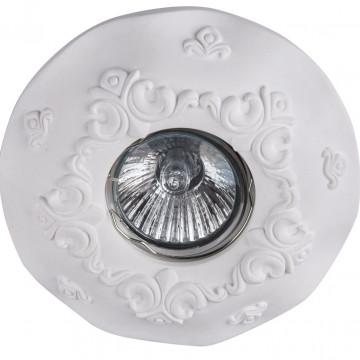 Встраиваемый светильник Maytoni Gyps Classic DL284-1-01-W, 1xGU10x35W, белый, под покраску, гипс - миниатюра 3