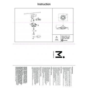 Схема с размерами Maytoni DL284-1-01-W