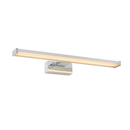 Настенный светодиодный светильник Lucide Onno 79297/12/12, IP44, LED 12W 3000K 960lm CRI80, матовый хром, металл, пластик