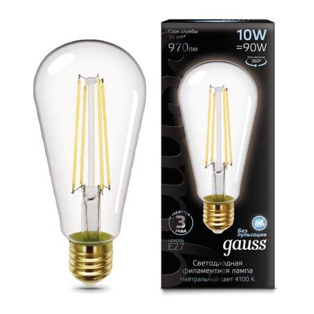 Светодиодная лампа Gauss 157802210 E27 10W, 4100K (холодный)
