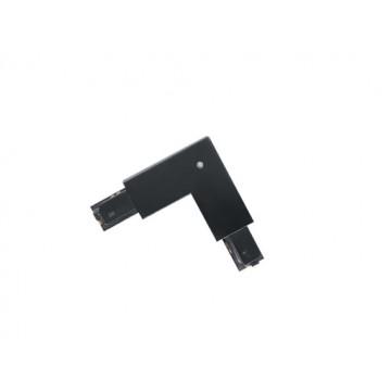 L-образный внешний соединитель для шинопровода Eglo Track On 60773, черный, пластик