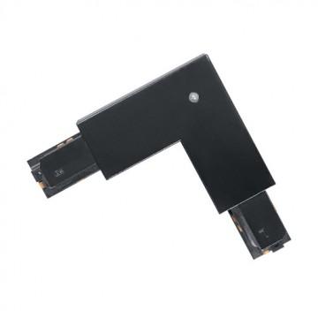 L-образный внутренний соединитель для шинопровода Eglo Track On 60774, черный, пластик