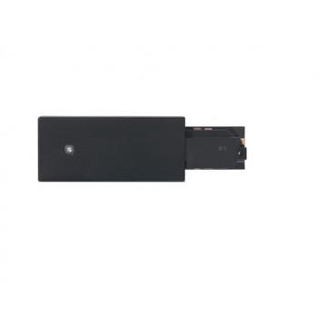 Правый подвод питания для шинной системы Eglo Track On 60777, черный, пластик