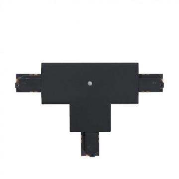 T-образный соединитель для шинопровода Eglo Track On 60776, черный, пластик