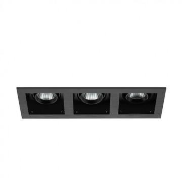 Встраиваемый светодиодный светильник Eglo Biscari 61628, LED 18W 4000K 3000lm CRI>80, черный, металл