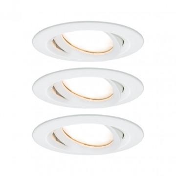 Встраиваемый светодиодный светильник Paulmann Nova Plus Coin IP65 93682, IP65, LED 6,8W, белый, металл