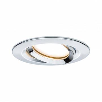 Встраиваемый светодиодный светильник Paulmann Nova Plus Coin IP65 93683, IP65, LED 6,8W, хром, металл