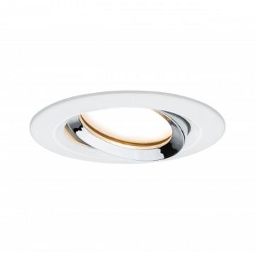 Встраиваемый светодиодный светильник Paulmann Nova Plus Coin IP65 93685, IP65, LED 6,8W, белый, хром, металл
