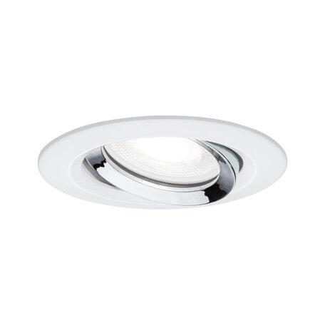 Встраиваемый светильник Paulmann Nova Plus IP65 93673, IP65, 1xGU10x6W, белый, хром, металл
