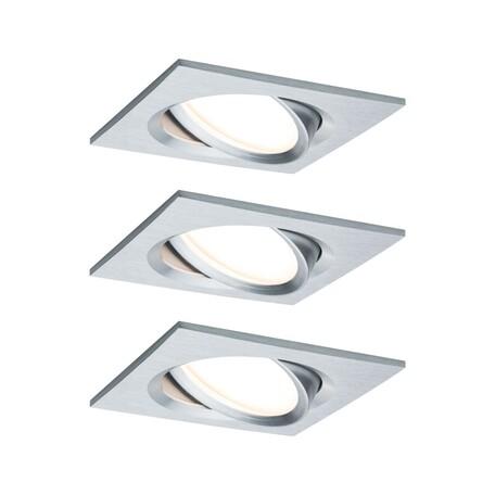Встраиваемый светодиодный светильник Paulmann Nova Plus Coin dimmable 93680, IP23, LED 6,8W, алюминий, металл