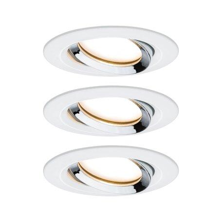 Встраиваемый светодиодный светильник Paulmann Nova Plus Coin IP65 93686, IP65, LED 6,8W, белый, хром, металл