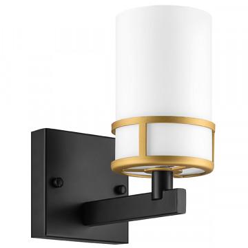 Бра Lightstar Cero 731617, 1xE14x40W, черный, белый, металл, стекло