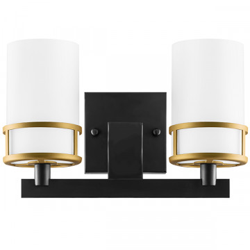 Бра Lightstar Cero 731627, 2xE14x40W, черный, белый, металл, стекло