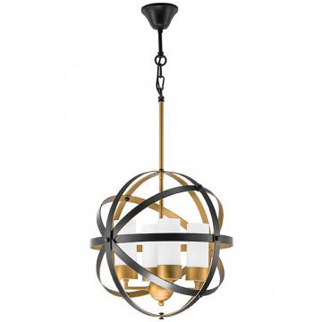 Подвесная люстра Lightstar Cero 731147, 4xE14x40W, черный, металл, металл со стеклом