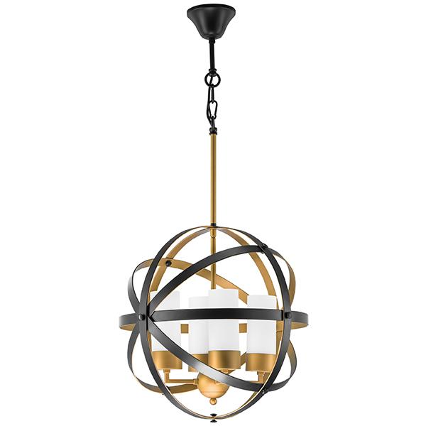Подвесная люстра Lightstar Cero 731147, 4xE14x40W, матовое золото, черный, белый, металл, стекло - фото 1