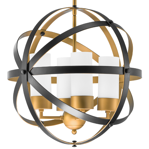 Подвесная люстра Lightstar Cero 731147, 4xE14x40W, матовое золото, черный, белый, металл, стекло - фото 2