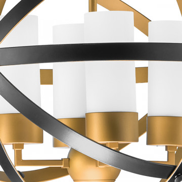 Подвесная люстра Lightstar Cero 731147, 4xE14x40W, матовое золото, черный, белый, металл, стекло - миниатюра 3