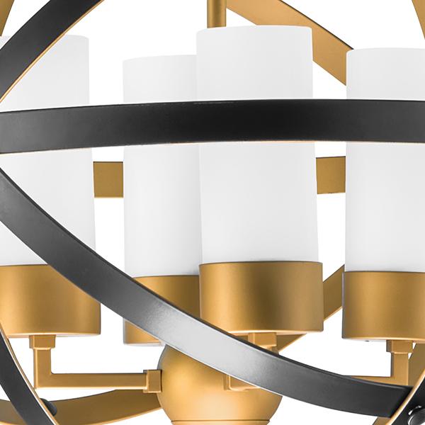 Подвесная люстра Lightstar Cero 731147, 4xE14x40W, матовое золото, черный, белый, металл, стекло - фото 3