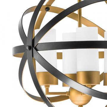 Подвесная люстра Lightstar Cero 731147, 4xE14x40W, матовое золото, черный, белый, металл, стекло - миниатюра 4