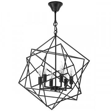 Подвесная люстра Lightstar Gabbia 732267, 6xE14x40W, черный, металл