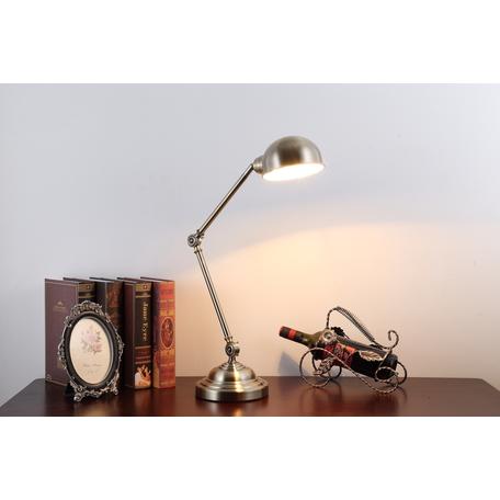 Настольная лампа Lumina Deco Rudys LDT 5504, 1xE27x40W, бронза, металл