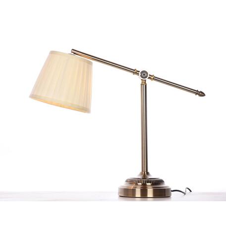 Настольная лампа Lumina Deco Florio LDT 503-1 MD, 1xE27x40W, бежевый, текстиль