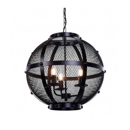 Подвесная люстра Lumina Deco Cavaro LDP 042-L, 3xE27x40W, черный, металл