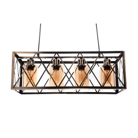 Подвесной светильник Lumina Deco Nortis LDP 11775-4, 4xE27x40W, бронза с янтарем, янтарь с бронзой