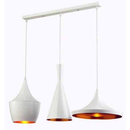 Подвесной светильник Lumina Deco Foggi LDP 7712-3 PR WT, 3xE27x40W, белый с золотом, металл