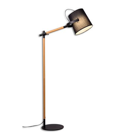 Торшер Lumina Deco Lapidus LDF 8308 BK, 1xE27x40W, черный, коричневый, металл, текстиль