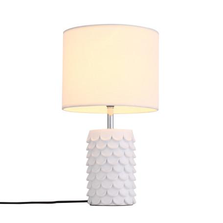 Настольная лампа ST Luce Tabella SL991.574.01, 1xE27x60W, белый, бежевый, пластик, текстиль