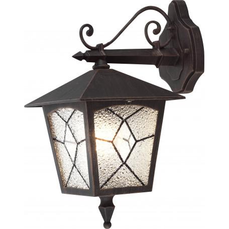 Настенный фонарь Globo Atlanta 3125, IP44, 1xE27x60W, металл, стекло