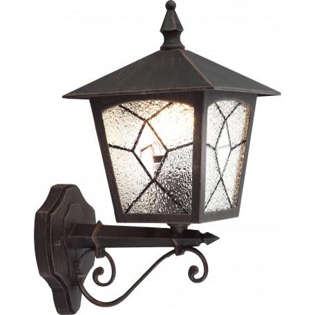 Настенный фонарь Globo Atlanta 3126, IP44, 1xE27x60W, металл, металл со стеклом