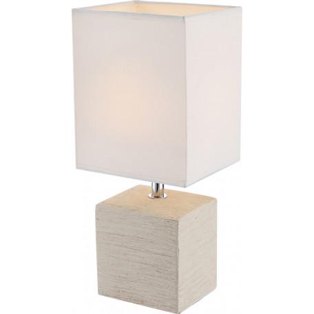 Настольная лампа Globo Geri 21675, 1xE14x40W, керамика, текстиль