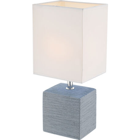 Настольная лампа Globo Geri 21676, 1xE14x40W, керамика, текстиль