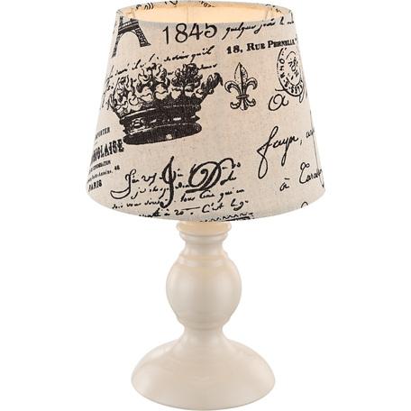 Настольная лампа Globo Metalic 21692, 1xE14x40W, металл, текстиль