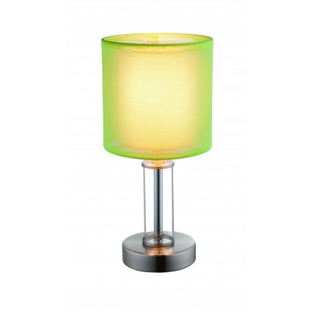 Настольная лампа Globo Laurie I 24646, 1xE14x40W, металл, стекло, текстиль