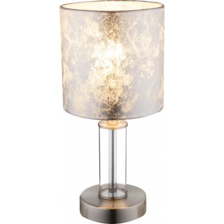 Настольная лампа Globo Laurie I 24649, 1xE14x40W, металл, стекло, текстиль