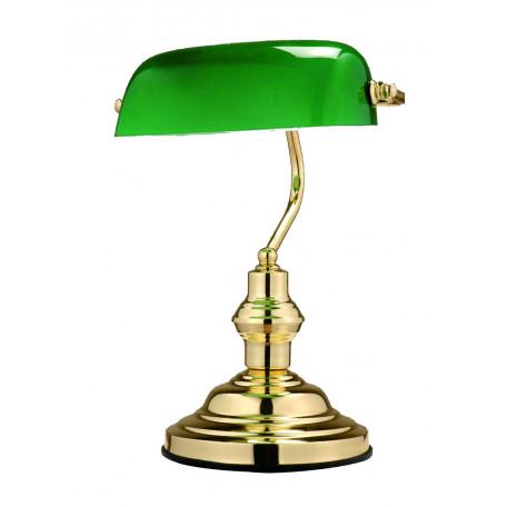 Настольная лампа Globo Antique 2491, 1xE27x60W, металл, стекло