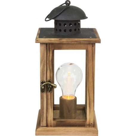 Настольная светодиодная лампа-ночник Globo Fanal 28189, LED 0,06W, дерево, пластик