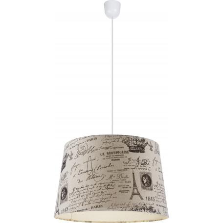 Подвесной светильник Globo Metalic 21692H, 1xE27x60W, пластик, текстиль