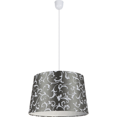 Подвесной светильник Globo Metalic 21693H, 1xE27x60W, пластик, текстиль