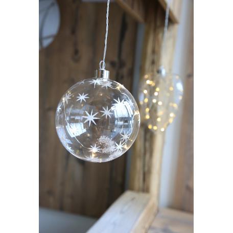 Подвесной светодиодный светильник Globo Weihnachtsengel 23235, LED 0,24W, металл, стекло