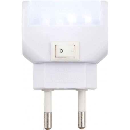 Штекерный светодиодный светильник-ночник Globo Chaser 31908, LED 0,96W 6400K, пластик