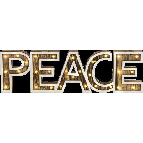 Световая фигура Globo Peace 29977, LED 1,74W, дерево, пластик